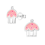 Children's silver cupcake earings in South Africa