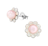925 Sterling Silver Flower Ear Studs