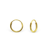C477-C20030 - Gold Plated Small Round Hoop Earings 10mm