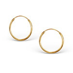 C474-C15328 - Gold Plated Hoop Earings 16mm