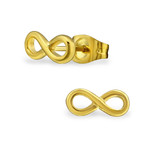 C479-C31725 - Gold Infinity Earrings, Stainless Steel 10mm x 4mm