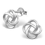 C1268-C20908 - 925 Sterling Silver Friendship / Love Knot Earrings