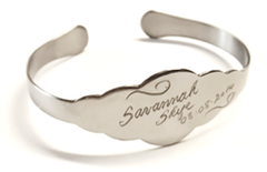 JB-UBB1 - Personalized Engraved Baby Bangle Gift, Stainless Steel, Adjustable Size, in gift box