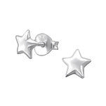 C1276-C19236 - 925 Sterling Silver Star Ear Stud Earrings 6mm
