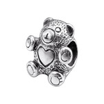 C1147-C9092 - 925 Sterling Silver Teddy Bear European Charm Bead