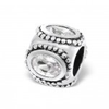 C74-C3793 - 925 Sterling Silver European Charm with CZ Stone