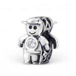 C37-C9519 - 925 Sterling Silver Boy European Charm Bead