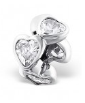 sterling silver heart European charm bead South Africa