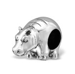 C996-C4372 - 925 Sterling Silver Hippo European Charm Bead