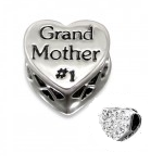 C121-C10079 - 925 Sterling Silver Grand Mother #1 European Bead with Crystals