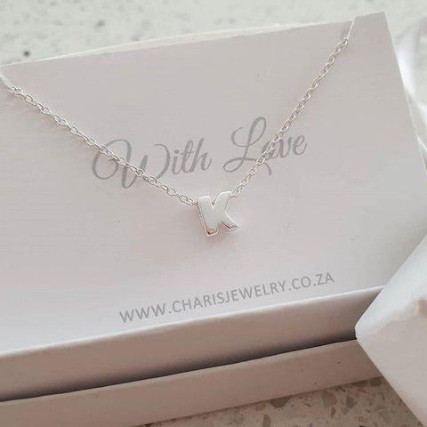Sterling silver initial necklace online shop in South Africa