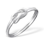 C939-C18096 - 925 Sterling Silver Love / Friendship Knot Ring