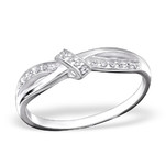 C153-C34915 - 925 Sterling Silver Love / Friendship Knot Ring