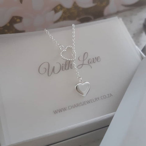 C717-C36227 - 925 Sterling Silver Adjustable Heart Necklace
