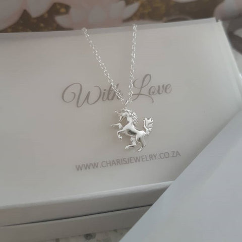 C347-C32222 - 925 Sterling Silver Unicorn Necklace
