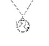 C1022-C25322 - 925 Sterling Silver Birds Necklace