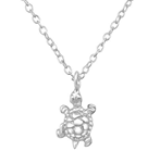 C1121-C34459- 925 Sterling Silver Turtle Necklace