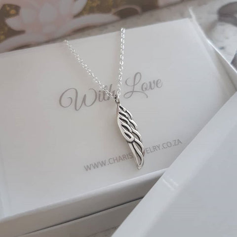 C615-C322466 - 925 Sterling Silver Wing Necklace