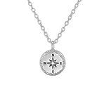 C1021-C37189 - 925 Sterling Silver Compass Necklace
