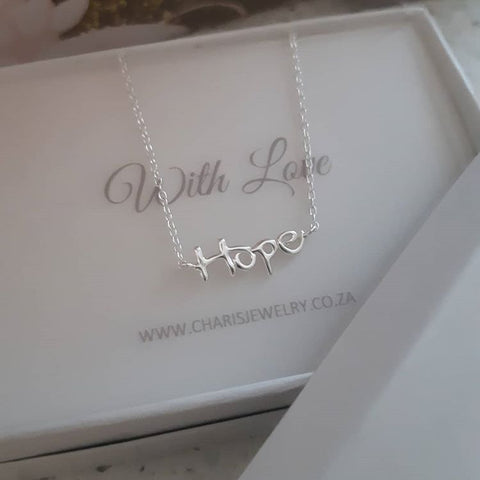 B54-C18527 - 925 Sterling Silver Hope Necklace