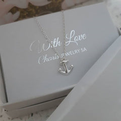 Sterling silver anchor necklace online jewellery store in SA