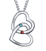 cc75ab4d81 N279 - 925 Sterling Silver personalized Couples names necklace. + CLICK  IMAGE TO ZOOM