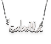 N294 - 925 Sterling Silver Personalized Tiny Name Necklace in Extra Strength Silver