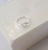 Sterling silver heart infinity knot ring