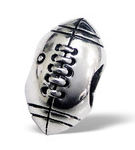 B141-C4224 - 925 Sterling Silver Rugby European Charm Bead