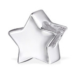 B135-C29523 - 925 Sterling Silver Star European Bead Charm