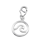 C299-C32131 - 925 Sterling Silver Wave Dangle Charm