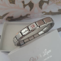 Sweet 16 Personalized 16th Birthday Bracelet gift online shop SA