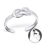 925 Sterling Silver Knot Toe Ring, Adjustable
