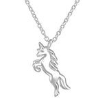 C1142-C36723 - 925 Sterling Silver Unicorn Necklace
