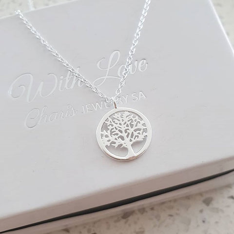 A119-C40035 - 925 Sterling Silver Tree Necklace