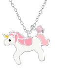 C602-C32738 - 925 Sterling Silver Children's Unicorn Necklace