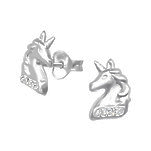 sterling silver cz unicorn ear stud earrings online store in SA