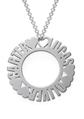 N150 - Circle Name Sterling Silver Necklace - Up to 3 Names