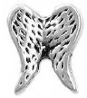 LR13-FLC175 - Wings Floating Charm for Floating Locket Necklace, Silver Tone or Gold Tone