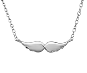 C563-C35101 - 925 Sterling Silver Wing Necklace
