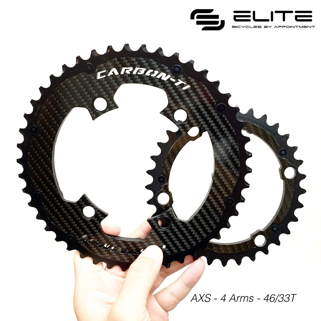 Carbon-Ti Chainring AXS 12 Speed (4 Arm, 110BCD)