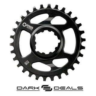 Dark Deal: Praxis Chainring - Direct Mount – 3 Bolt Interface - WAVE