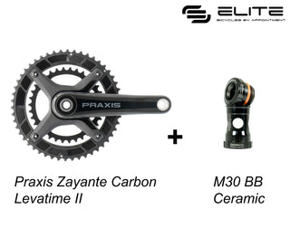 Praxis Zayante Carbon LT2 Road Cranks (with CERAMIC M30 Bottom Bracket)