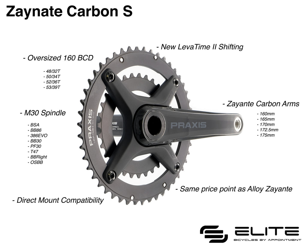 Dark Deal: Praxis Zayante Carbon S Road Cranks (with M30 Bottom Bracket)