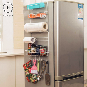 Homlly Refrigerator Side Storage Rack