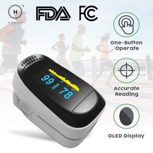 Homlly Fingertip Pulse Oximeter (FDA Approved OLED Display)