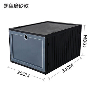 Homlly Expandable Foldable Stackable Storage PP Box Container (1+1)