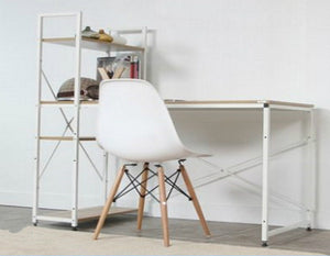 Grande Desk With 4-tier Shelf