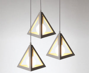 Tri Pyramid Ceiling Lamp