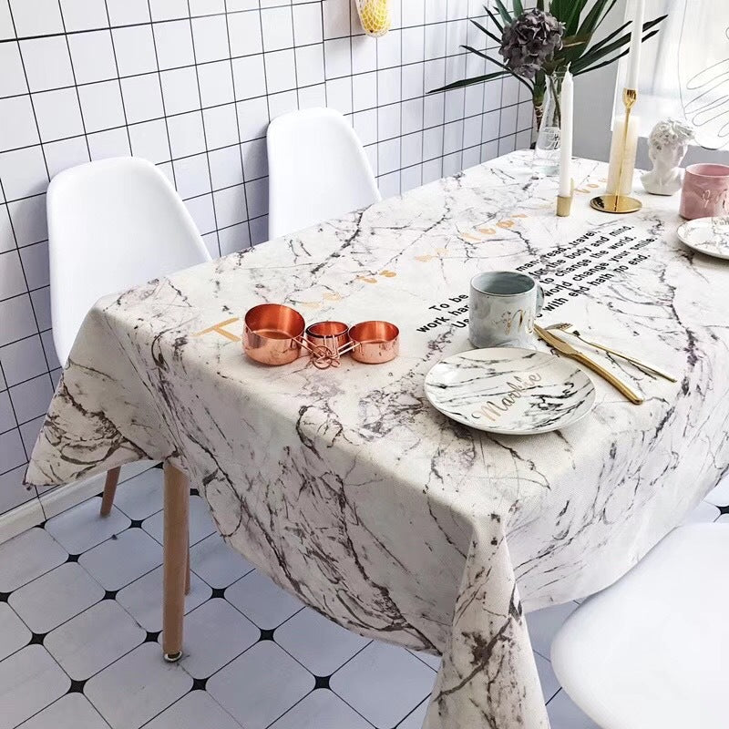 Homlly Marbi Table Cover Cloth